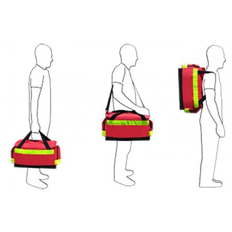 Gamme médicale Sac inter 1er secours en poly rouge 40M46PRC1W 149,00€ - Sac médical dédié au transport de matériel de secour...
