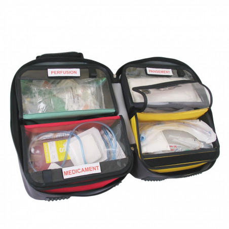 Emergency range Medix 8 bag 40M23PRC 109,00 € -  Backpack dedicated to the transport of medical material in intervention.