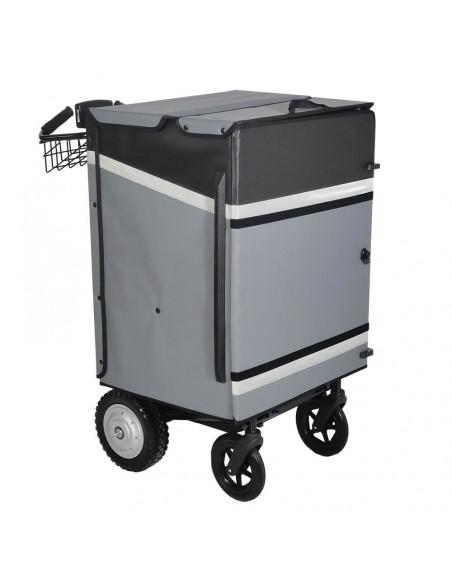 Distri LAST MILE 200 - Chariot manuel ou électrique destiné à la livraison de colis, lettres, bacs alimentaires et sacs de co...
