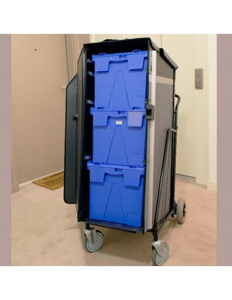 Distri LAST MILE 300 - Chariot manuel ou électrique destiné à la livraison de colis, lettres, bacs alimentaires et sacs de co...