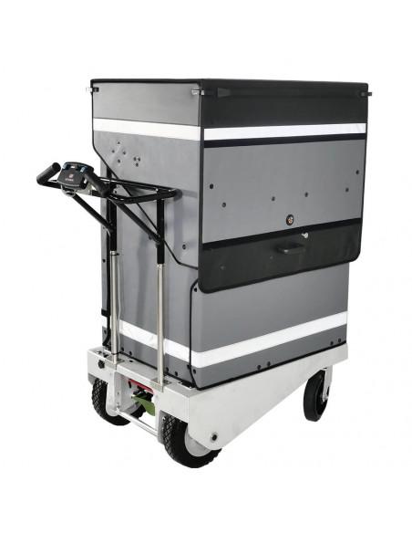 Distri LAST MILE 400 - Chariot manuel ou électrique destiné à la livraison de colis, lettres, bacs alimentaires et sacs de co...