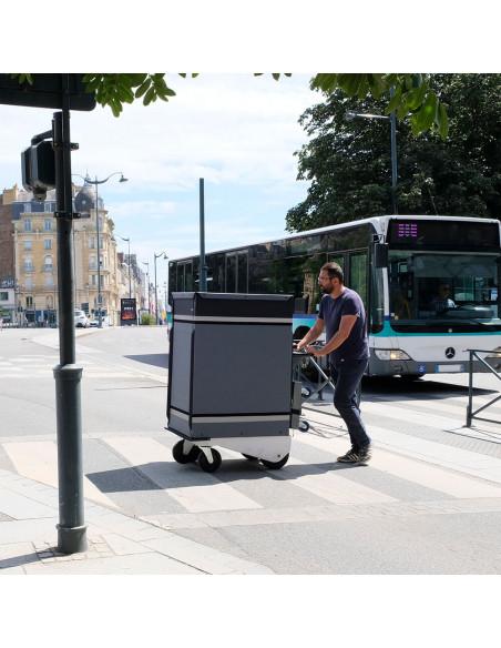 Distri LAST MILE 600 - Chariot manuel ou électrique destiné à la livraison de colis, lettres, bacs alimentaires et sacs de co...