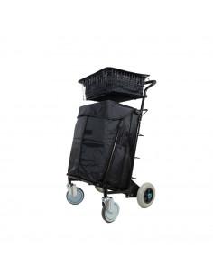 Distri LAST MILE 100 - Chariot manuel ou électrique destiné à la livraison de colis, lettres, bacs alimentaires et sacs de co...
