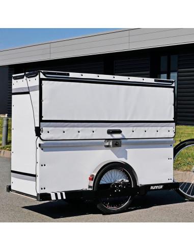 Distri P-BOX - Contenant léger pour triporteur, scooter et vélo cargo - Chariot manuel ou électrique destiné à la livraison d...