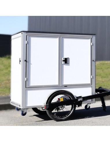 Distri D-BOX - Contenant robuste pour triporteur, scooter et vélo cargo - Chariot manuel ou électrique destiné à la livraison...