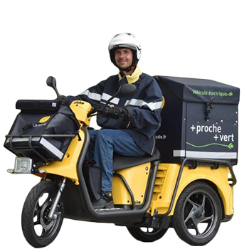 Contenant Avant et Arrière La POSTE pour scooter