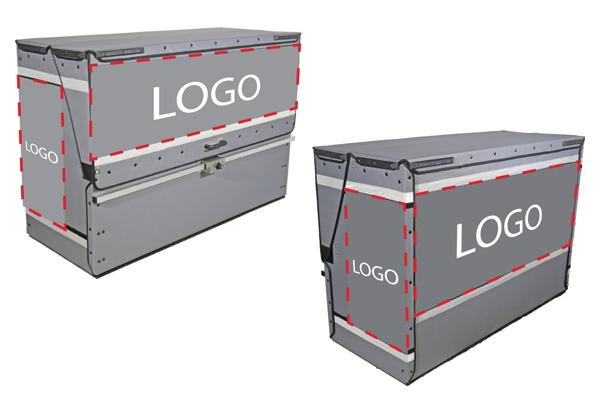 P-BOX, Espaces amovible pour communiquer sur votre marque