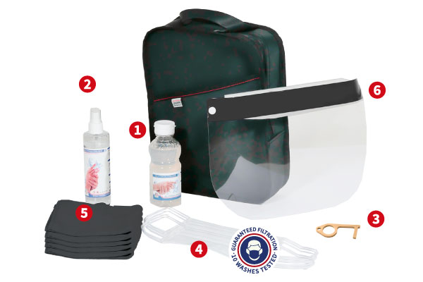 The Hygie Travel Kit content