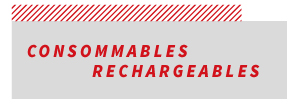 consommables rechargeable