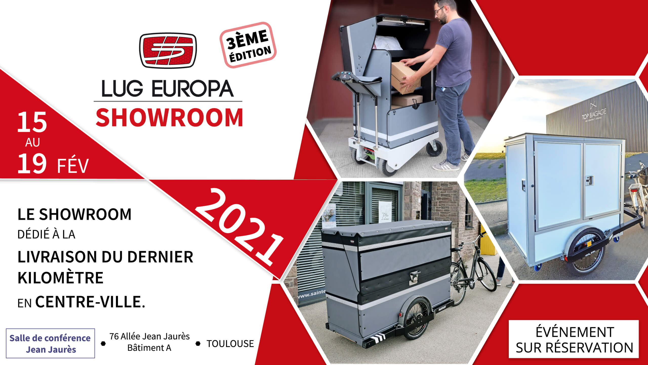 SHowroom LUG EUROPA à Lyon du 15 au 19 Février à TOULOUSE